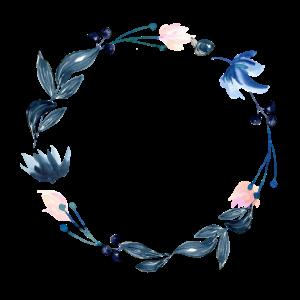 Blauer Floraler Kranz