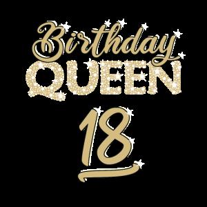 BIRTHDAY QUEEN 18. Geburtstag Geschenk für Frauen