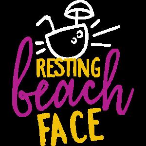 Strandgesicht Urlaub T-Shirt