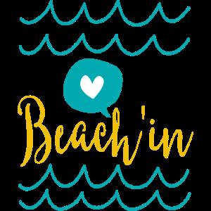 Strand im Spaß Zitat Urlaub T-Shirt