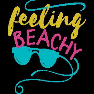 Feeling Beachy Fun Urlaub T-Shirt