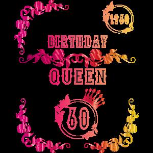 Geschenkidee 60 Geburtstag Birthday Queen Geschenk