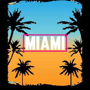 Miami Beach Sommer Strand Palmen