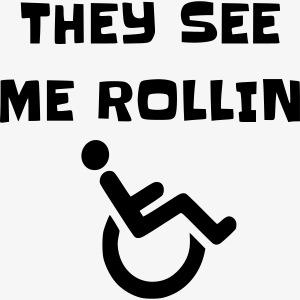 > Ze zien mij rollen met mijn rolstoel