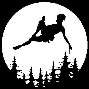 Mond Kletterer Klettern abseilen Geschenk Berge