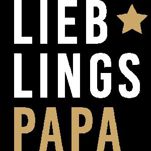 Vatertag Lieblingspapa Stern Papi Geschenk Shirt