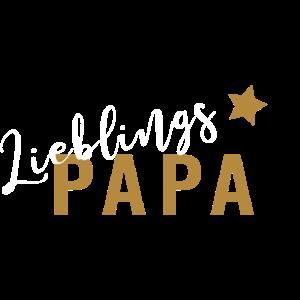 Vatertag Lieblingspapa Papi Stern Geschenk Shirt