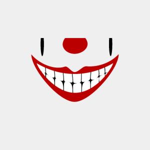 Breites Grinsen eines Clown Joker (DDP)