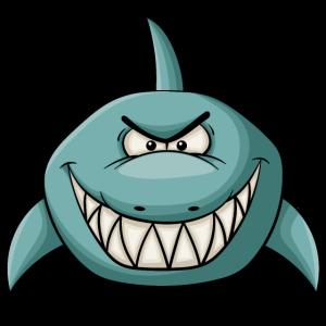 Böse grinsender Hai