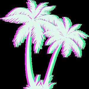 Beach Palme Glitch Effect Summer Techno DJ Elektro