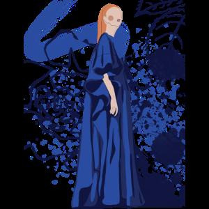 künstlerisches Blau