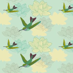 Gesichtsmaske Mundschutz mit Vögel und Blumen