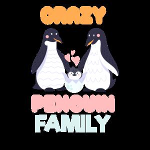 Verrückte Pinguin Familie