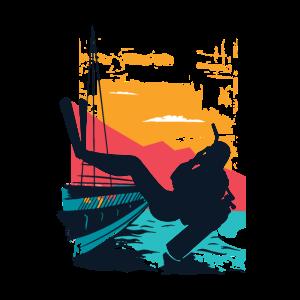 Taucher Boot Nachttauchgang Tauchschein Geschenk