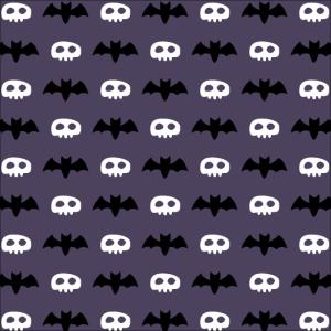 Fledermaus- und Schädel-Symbolmuster
