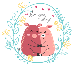 Love Pig Schweine
