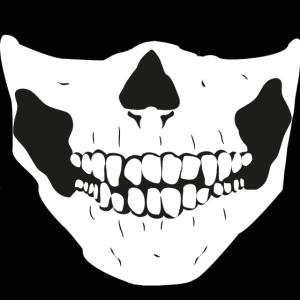 Totenkopf Maske Schwarz Weiß