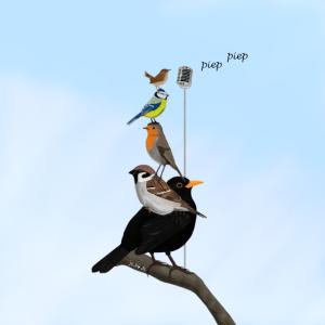 Mund- und Nasen-Maske The Backyard Birds Zeichnung
