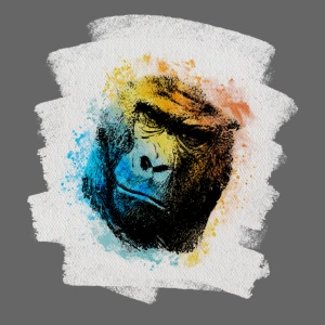 Gorilla Aquarell