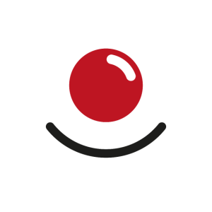 Gesichtsmaske Mundschutz Clown Rote Nase Lächeln