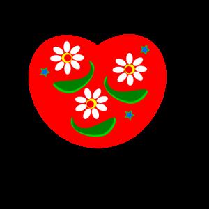 Blumiges Herz