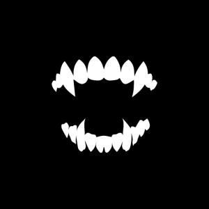 VAMPIR Zähne Lustige Stoffmaske Atemschutz Maske