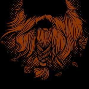 Bart Odin Vikinger Mund Braun Zopf Barthaare Haare