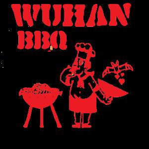 Wuhan BBQ,Grill Koch Fledermaus Humor Krisen Shirt
