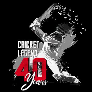 Cricket Spieler, 40. Geburtstag, die Legende