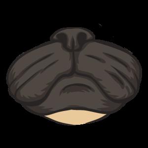 Mops Gesichtsmaske