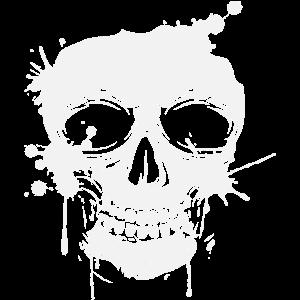 Totenkopf Skull Graffiti