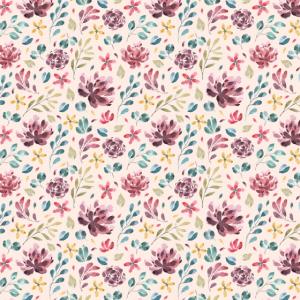 Rosen Blumen florales Muster lila rosa gelb
