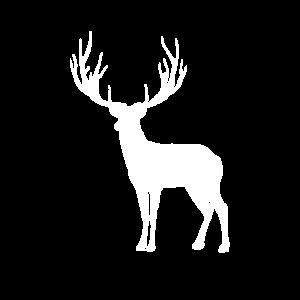 Hirsch geschenk weiß