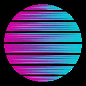 Kreis Farbverlauf Hintergrund Vorlage Symbol cool