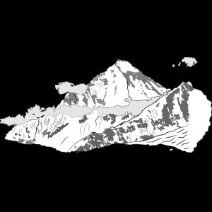 Dhaulagiri Zeichnung