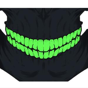 skull face mask green