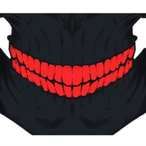 skull face mask red