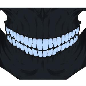 skull face mask blue