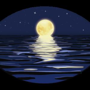 Vollmond | Mond Gesichtsmaske Mundschutz Maske