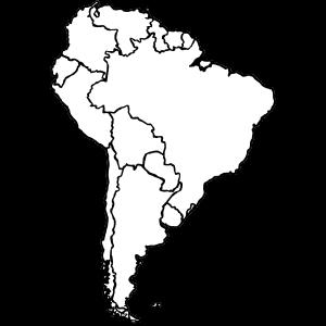 Kontinent - Suedamerika - sw