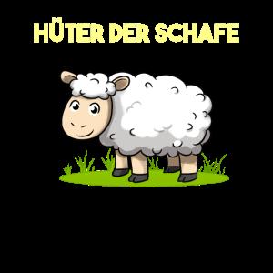Hüter der Schafe Landwirt Schäfer Schaf