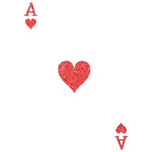 Karte Kartenspiel Ass Herz Geschenk Poker