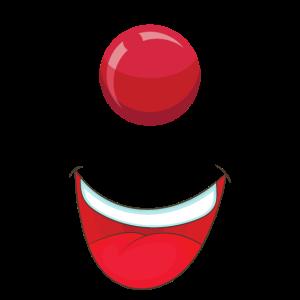 Clown Nase Mund Gesichtsmaske Witzig Geschenk