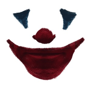 Gesichtsmaske Clown