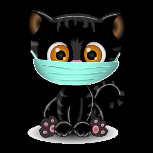 Gesichtsmaske Katze | Atemmaske Mieze