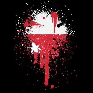 Paintsplash peruanische Flagge Shirt | Peru Flagge