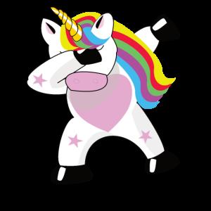 Einhorn Dabbing Dabbin Unicorn Geschenk