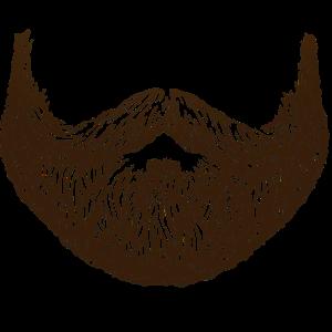 Brauner Vollbart Maske