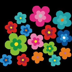 Hippie Blumen Flower Power Geschenk 70er Love