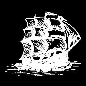 Segelschiff in Weiß